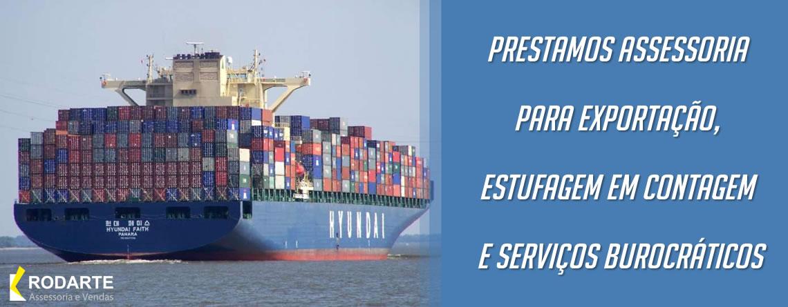 Prestamos assessoria para exportação, estufagem em contagem e serviços burocráticos